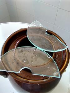 Cristales para poner sobre la hoja de repollo