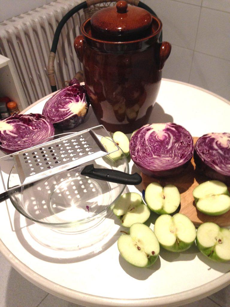 Ingredientes de la lombarda con manzanas