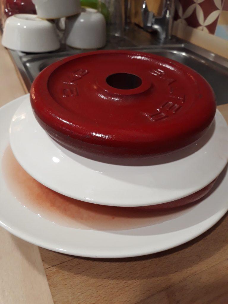 prensado del tomate